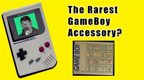 gameboy color accessories the rarest nintendo gameboy accessory