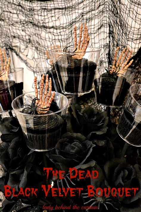 the dark behind the curtain halloween black velvet bouquet