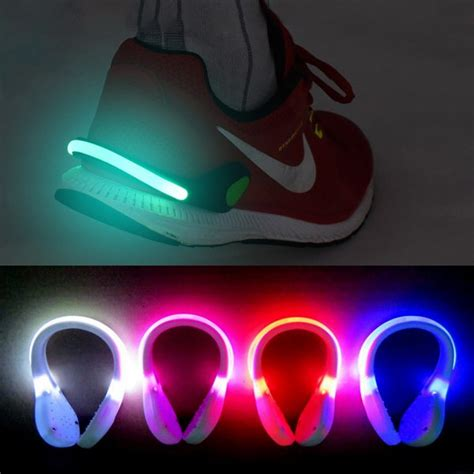 shoes lights outdoor safety warning led light clip running