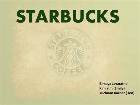 Ppt Starbucks Powerpoint Presentation Id 1549764 Starbucks Powerpoint Template