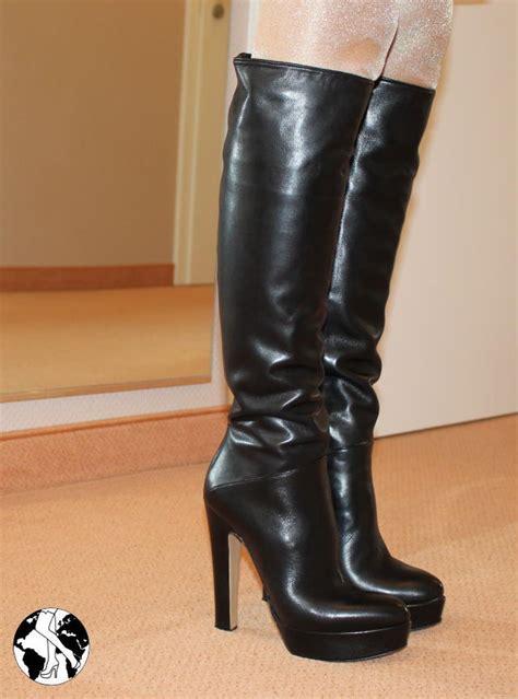 Stiefel Bis Zum Knie by Gr 39 Langer Schaft Extremer Absatz Biondini High Heels