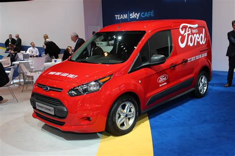 ford transit connect  red   cv show  commercial vehicle dealer