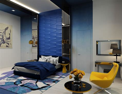 yellow and blue bedroom blue and yellow bedroom interior design ideas
