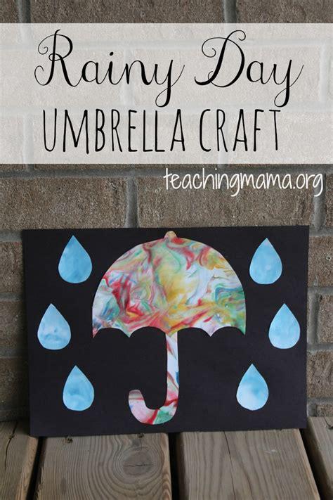 7 rainy day crafts to rainy day umbrella craft