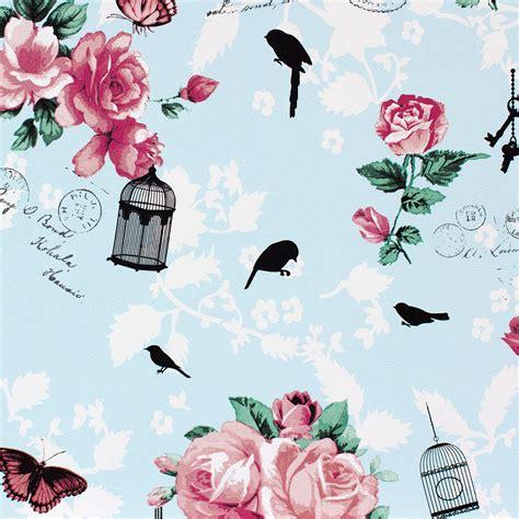 Marburg ZUHAUSE WOHNEN 3 non woven wallpaper 54725 floral vintage blue pink