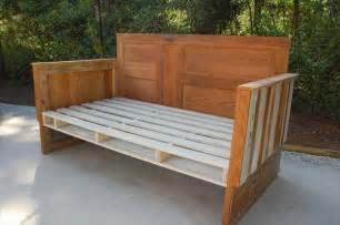 Bench Made From Old Bed Frame Diy Upcycled Pallet Wood Daybed 99 Pallets