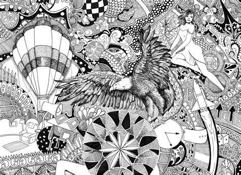 doodle pen and ink drawing imagination doodle intricate pen and ink oeskriett