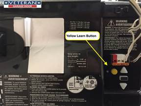 garage door opener yellow learn button