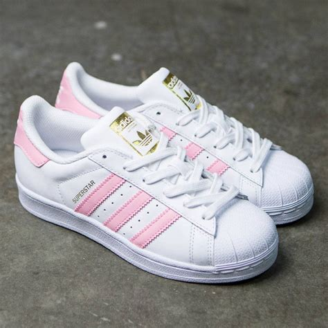 all light pink adidas adidas big superstar foundation white clear light