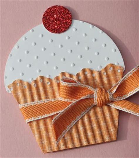 Handmade Cupcakes - handmade card shaped like a big cup cake luc the