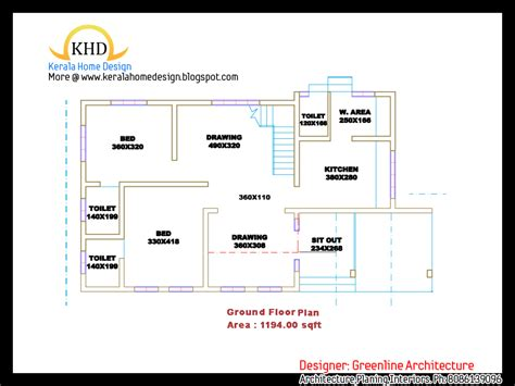 3 Bedroom House Plans Indian Style by Beautiful Villa Plan And Elevation 1839 Sq Ft Kerala