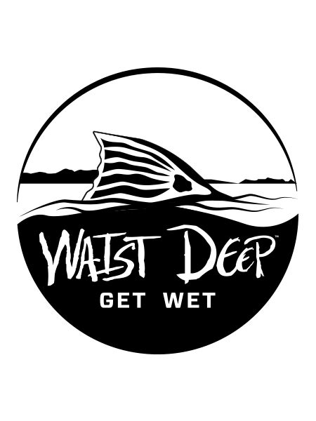 Redfish Tail Circle Decal – Waist Deep