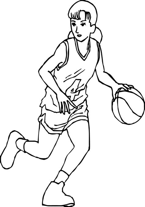 coloring pages of girl basketball players good manga girl playing basketball coloring page