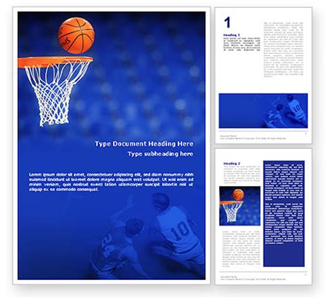 basketball match brochure template design and layout