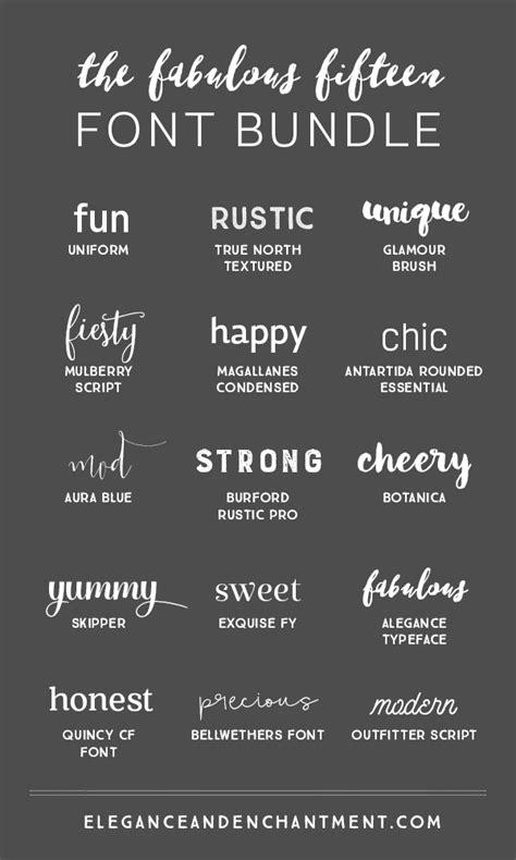 design font bundles fabulous fifteen font bundle michellehickey design