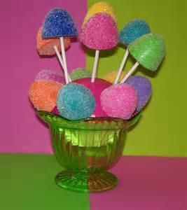 6 candyland fake gumdrop cake pops by fakecupcakecreations