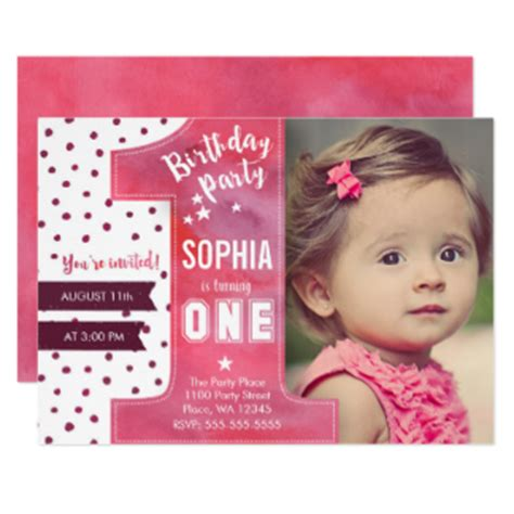 1st birthday invitations uk birthday invitations announcements zazzle co uk