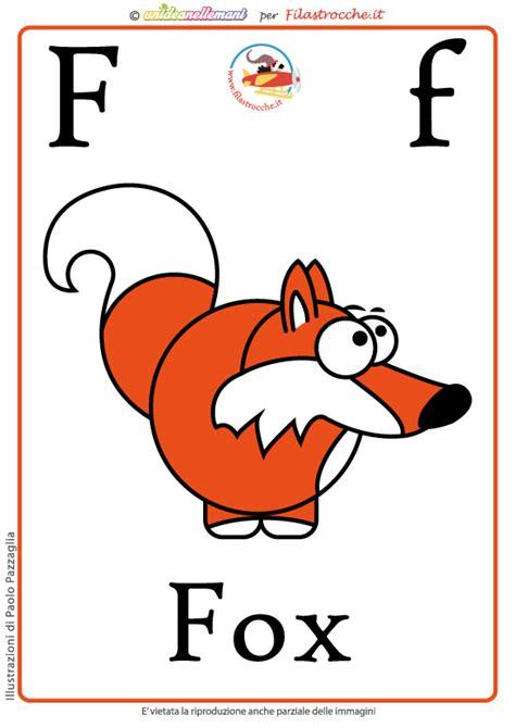 lettere inglese schede alfabeto inglese da stare lettera f