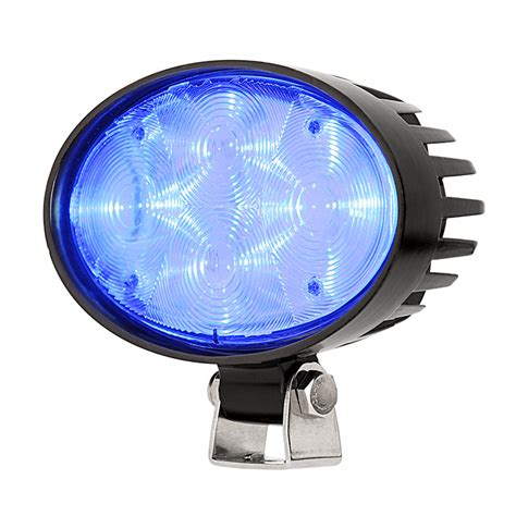 blue led emergency lights forklift blue light led safety light w 4 176 square beam