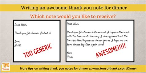 thank you cards for dinner template write an awesome thank you note for dinner thank you