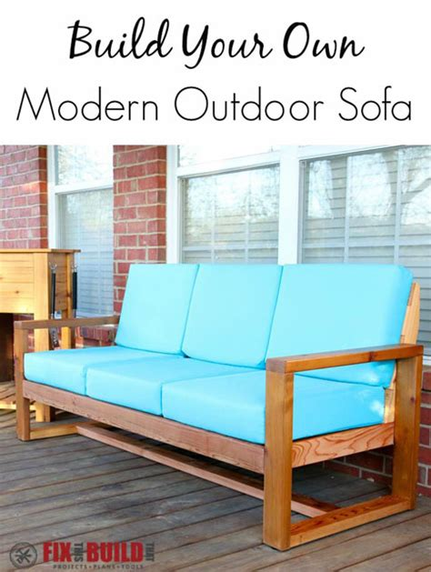 build your own sofa plans how to build a diy modern outdoor sofa fixthisbuildthat