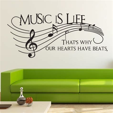 music wall decor music is life musical note wall decor removable home vinyl decal sticker art diy ebay