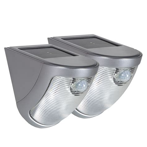 duracell silver led solar motion security light 2 pack