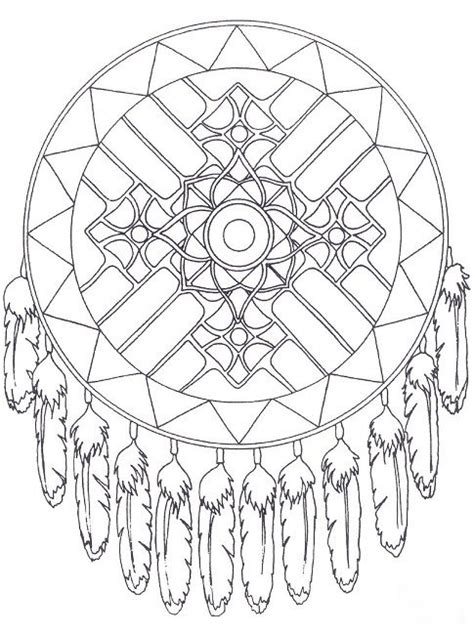 free native american mandala coloring pages design