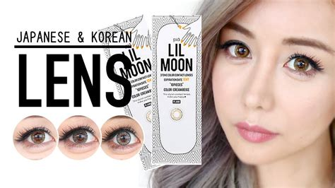 asian with colored try on japanese korean colored contact lens haul