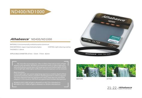 Filter Athabasca 82mm Nd1000 filter athabasca nd1000 77mm