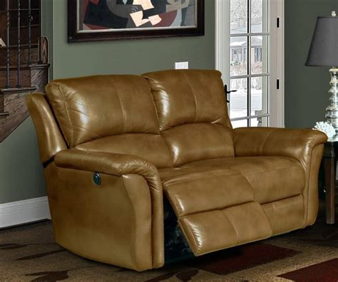 camel leather recliner lewis power dual reclining loveseat in camel leather by