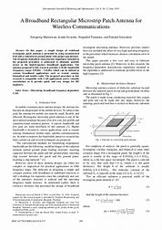 Image result for microstrip patch antenna research paper pdf