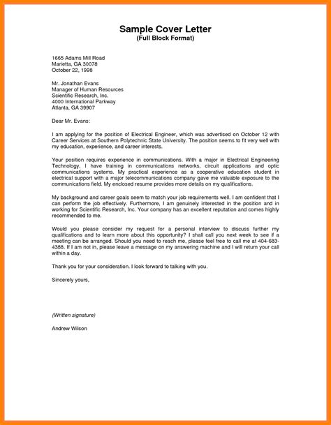 Sle Business Letter With block style business letter exle letters free sle letters