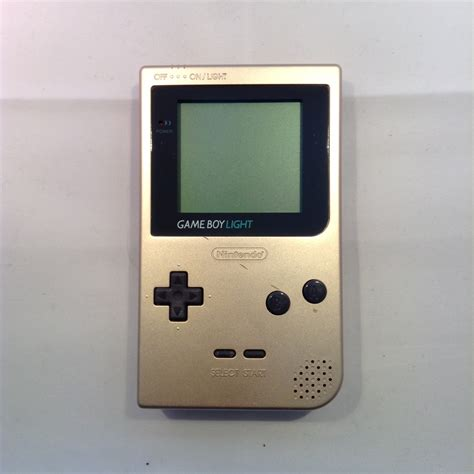 gameboy console nintendo gameboy light console gold retroplayers