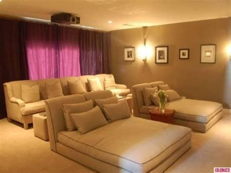 movie room recliners love the home theater inside charlize theron s 3 8