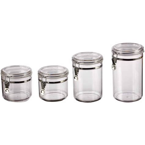 kitchen canisters walmart classical 4 canister set clear walmart