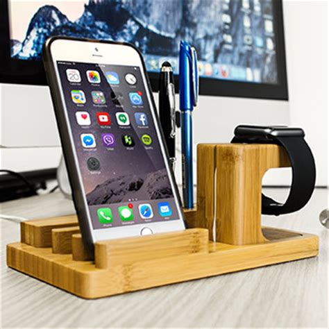 Minimalist Bedside Table olixar charging apple watch wooden desk stand with iphone