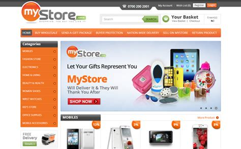 layout online shop ecommerce website design development company