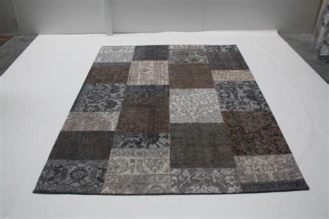 laagpolig vloerkleed bruin collage laagpolig vloerkleed brown