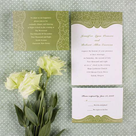 Budget Wedding Invites by Discount Country Green Swirl Summer Wedding Invitation