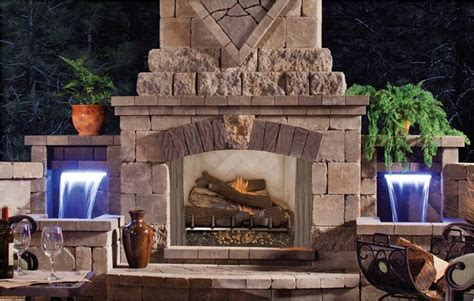 Outdoor Wood Burning Fireplace Kits : Building Outdoor
