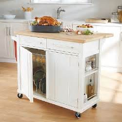 Simple Kitchen Island Our New Kitchen Cart I M In Real Simple 174 Kitchen Island In White Bedbathandbeyond