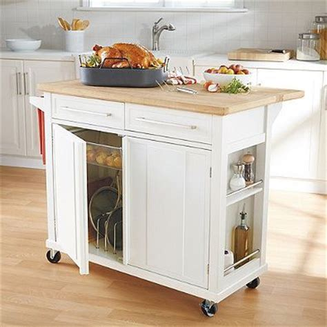 simple kitchen islands our new kitchen cart i m in real simple 174 kitchen island in white bedbathandbeyond