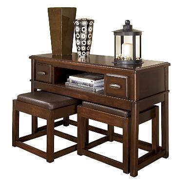 sofa table with ottomans sofa table with nesting ottomans decorate pinterest