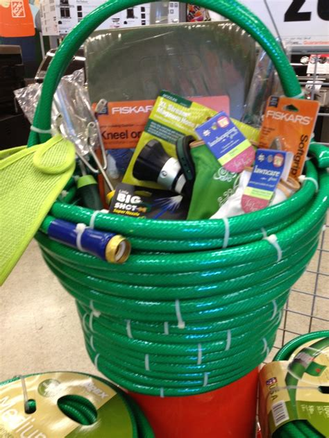 Garden Gift Basket Ideas Gardener Gift Basket Hose Zip Together To Make The Basket Filled With Gardening Goodies