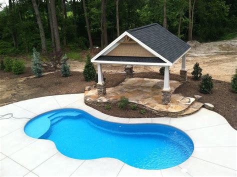 Backyard Pools Prices Fiberglass Swimming Pool Installation In Burlington Nc K Built Construction Of Burlington Nc