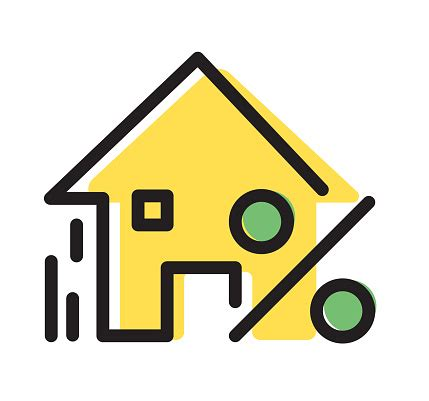home loan interest rate icon stock illustration