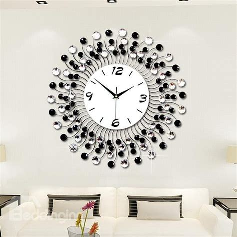 living room wall clocks modern classic living room diamond decorative wall clock