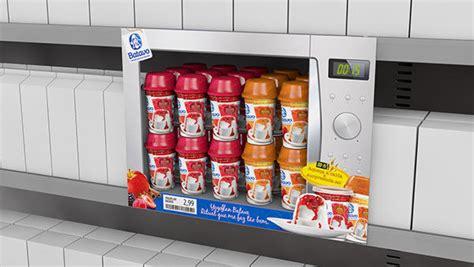 Shelf Of Yogurt by Appliance Inspired Merchandising Yogurt Shelf Display