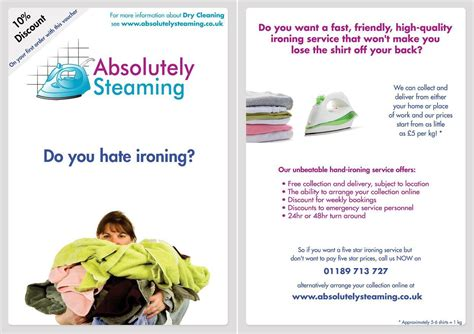 Ironing Service Flyer Template tell a friend
